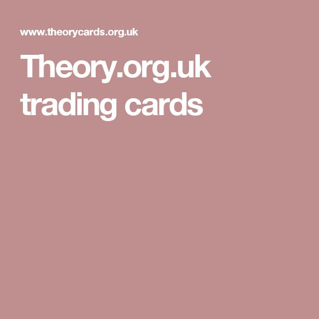 Theory.org.uk trading cards