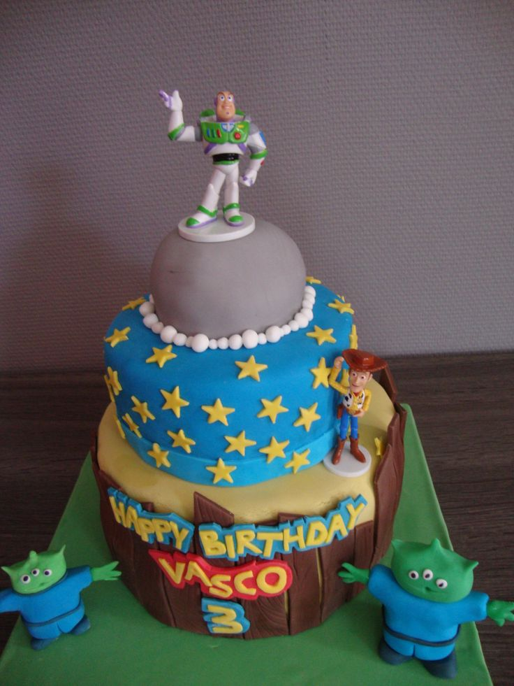 Gateau toy story pate a sucre