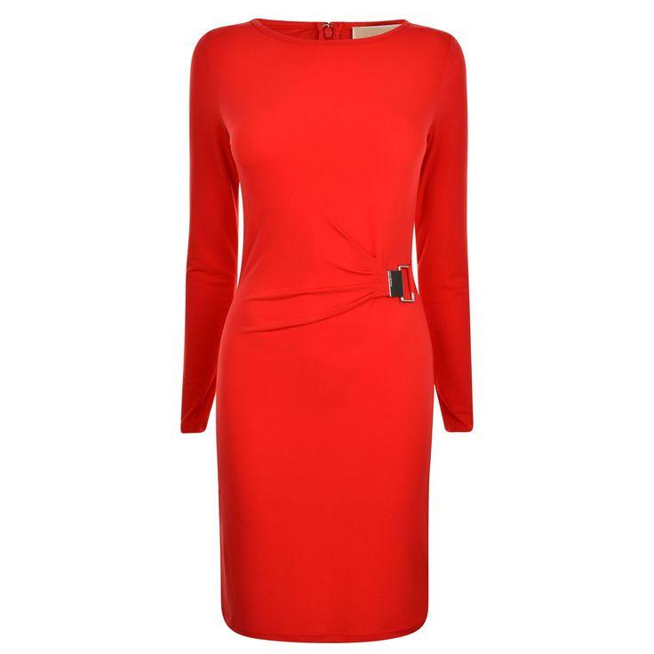 Майкл Майкл Корс | Ruched платье с длинным рукавом