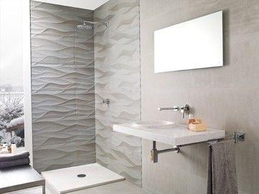 Porcelanosa Aluminum Leaf - modern - bathroom tile - las vegas - CheaperFloors