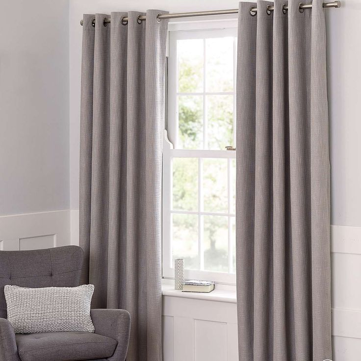 Boucle Dove Grey Blackout Curtains | Dunelm