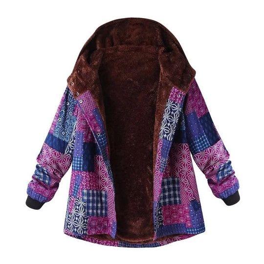 Women Parka 2018 Vintage Hoodies Plus Size Parka Fashion Fleece Thickl – liilg... 13