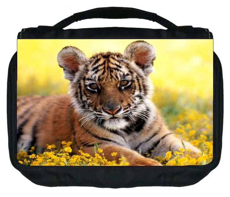 Tiger Cub Design TM Small Travel Sized Hanging Cosmetic/Toiletry Case with 3 Compartments and Detachable Hanger-Made in the U.S.A. >>> You can find out more details at the link of the image.