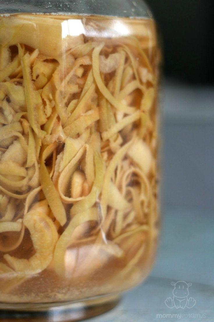 How To Make Apple Cider Vinegar (From Apple Scraps)