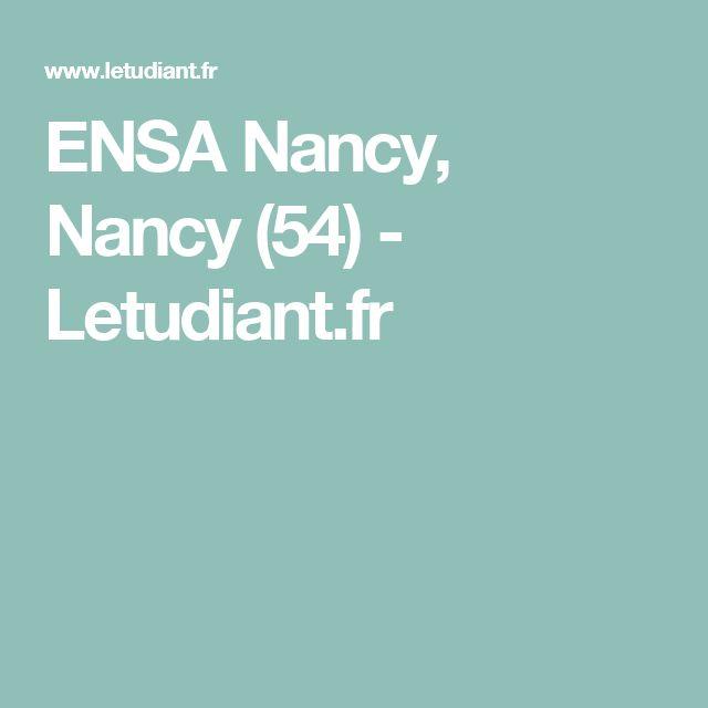 ENSA Nancy, Nancy (54) - Letudiant.fr