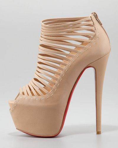 Christian Louboutin= love the Bone color!