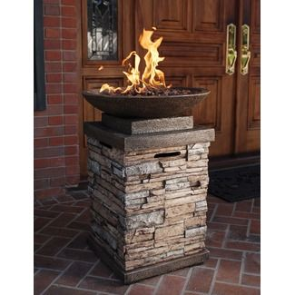 Features:  -Fire bowl.  -Requires a 20 lb Propane tank (not included).  -Keep warm and create the perfect outdoor setting throughout the year with a fire bowl.  Product Type: -Fire column.  Base Mater