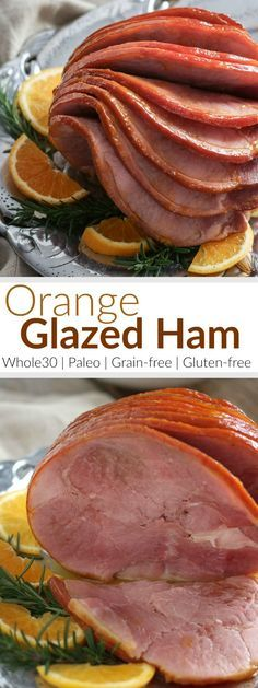 Now you can enjoy perfectly glazed ham without added sugar! Our baked ham with it's simple 4 ingredient orange and spice glaze is easy enough for a casual weekend dinner or meal prep session and elegant enough for holiday feasts | Whole30 meat recipes | w