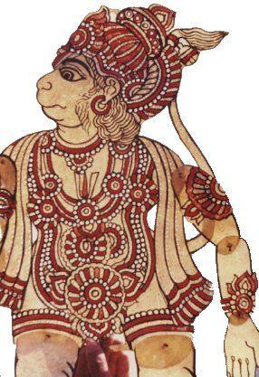 India. Hanuman the Monkey Puppet.
