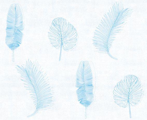 #rumruk #wallpaper #leaves #lineardrawing #white #blue