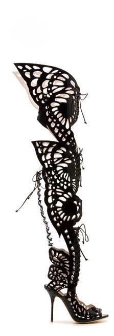 Sophia Webster black gladiator high heel that would give you butterflies in your stomach