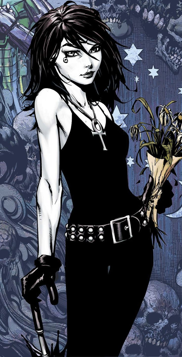 I really love Gaiman's concept of Death. I never cared for the old style creepy hooded scythe holding skeletal boogeyman. The idea that death greets you like an old friend, takes your arm under hers, chats with you and walks you to the other side is so much more comforting.