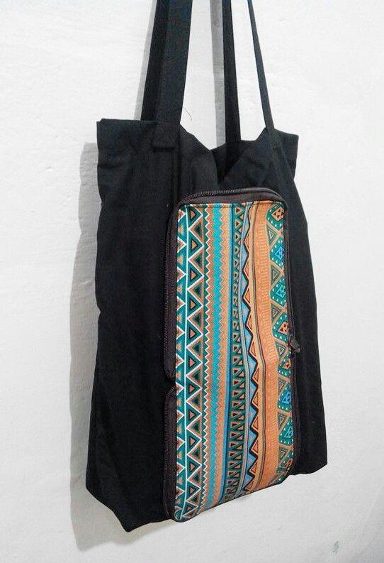Folding bag Navajo  #navajo #tribal #ethnic #foldingbag #native #canvas