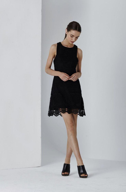 Dolce Lace Mini Flare Dress