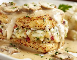 Stuffed Chicken Marsala Olive Garden Copycat- My new favorite dinner!