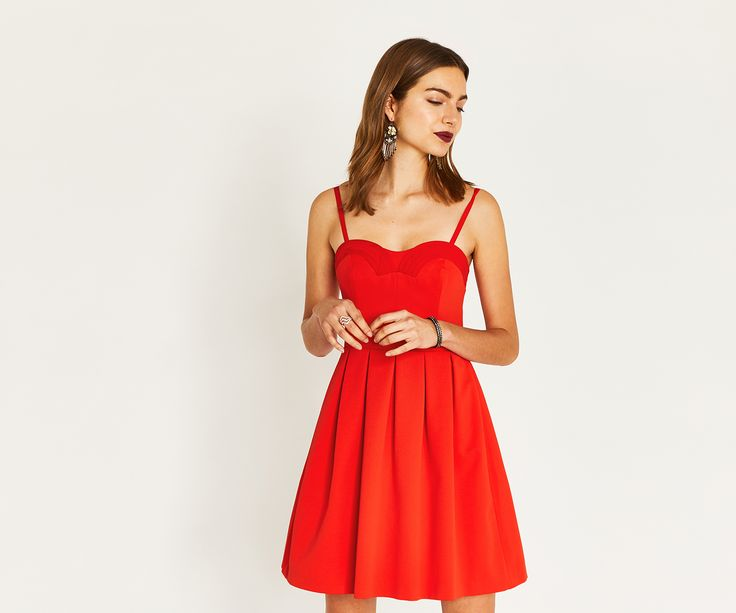 Meet Prom: Nothing says 'butter-wouldn't-melt' quite like Prom. Never one to turn down an invitation, her Fifties'- inspired neckline and full skirt have graced many a red carpet since her debut. Because Prom is the perfect plus one... Click the image to shop the look.