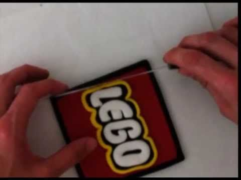 how to make fondant LEGO logo cake decorating tutorial