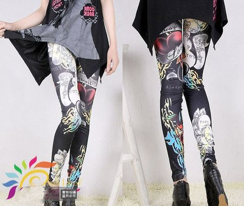Punk Hearts Legging by Pink Revolver