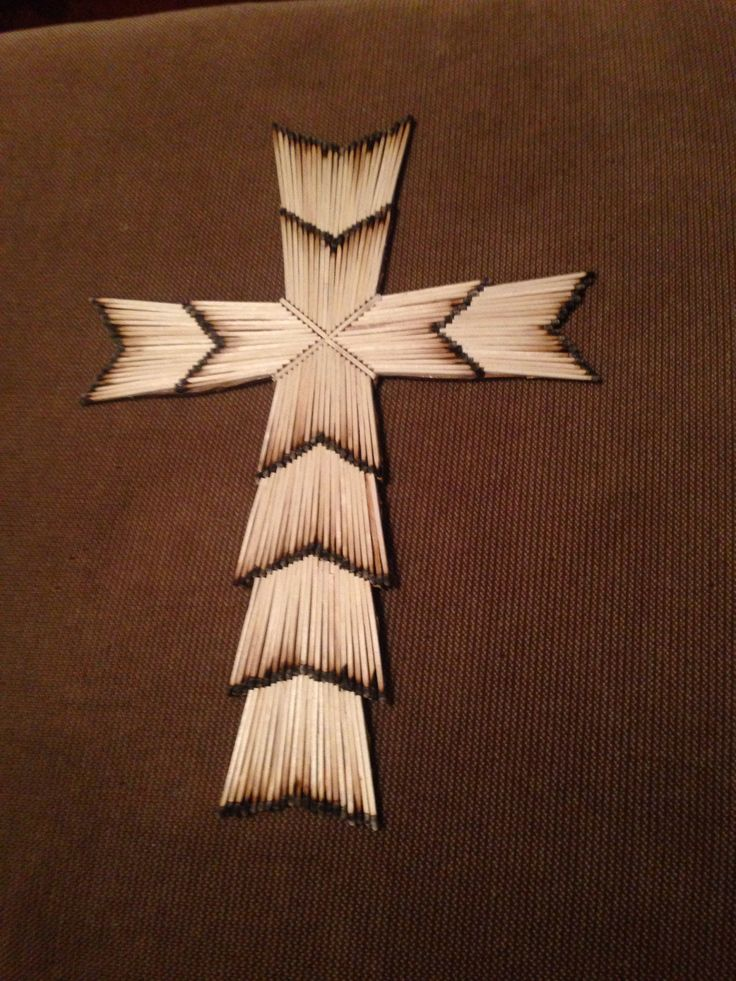matchstick cross couple craft with trevor