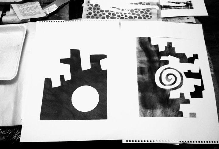 #collage#abstracto#papel#reciclaje#papel_prensa#papel_publicitario#tecnica_mixta#tinta#estarcido#esténcil#papel_reutilizado#morenoamor#esténcilart