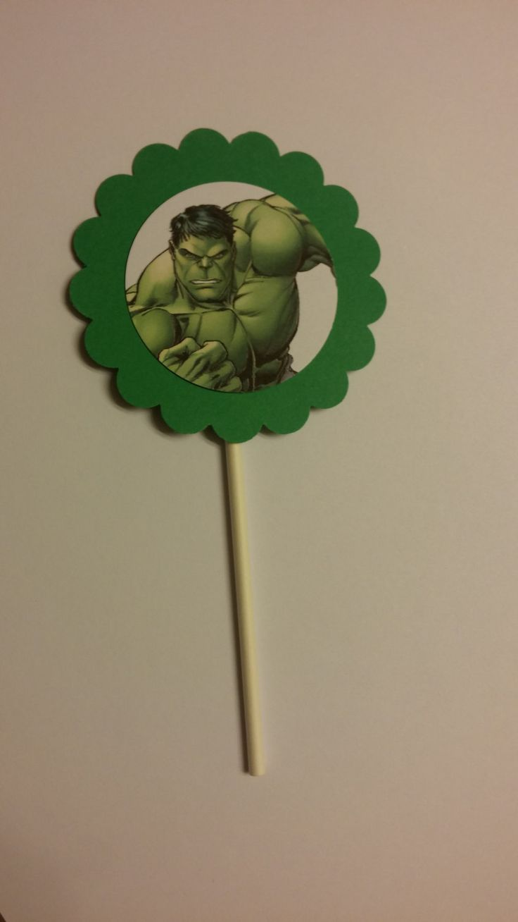 Hulk Cupcake Toppers by StefsGirls on Etsy https://www.etsy.com/listing/235597238/hulk-cupcake-toppers