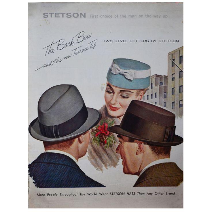 De vuelta en Memory Lane: A Fine Stetson Caballeros Sombrero del cartel de 1956