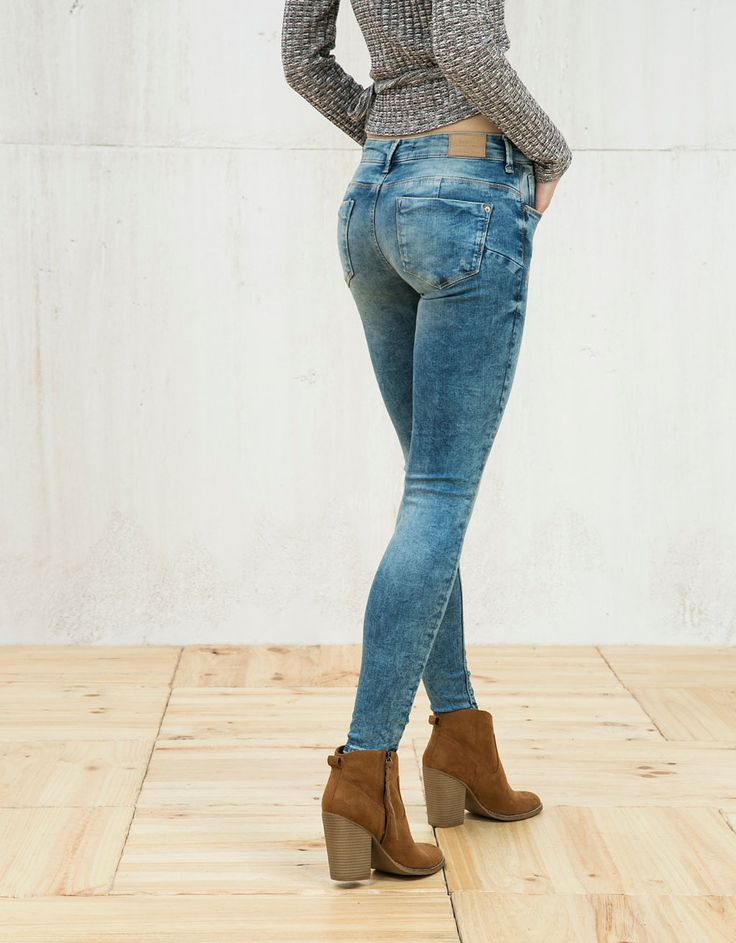 push-up skinny jeans - Push-up - Bershka Croatia