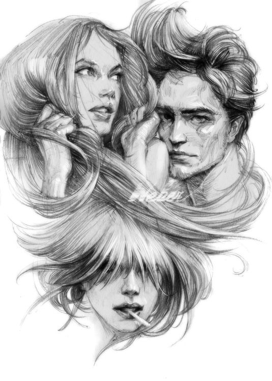 Hand Drawn Portrait Illustrations by Bartosz Kosowski