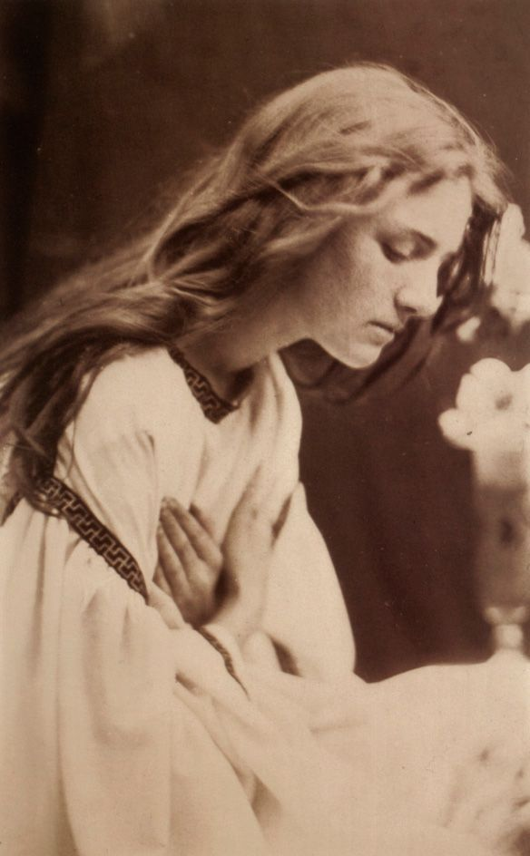 I like this art work of Julia Margaret Cameron. I found this photo very dramatic. I like that background is not so clear and main accent on the photo is a subject. We can see young lady who praying. Her gesture and face expression tell me as a viewer that she is desperate.