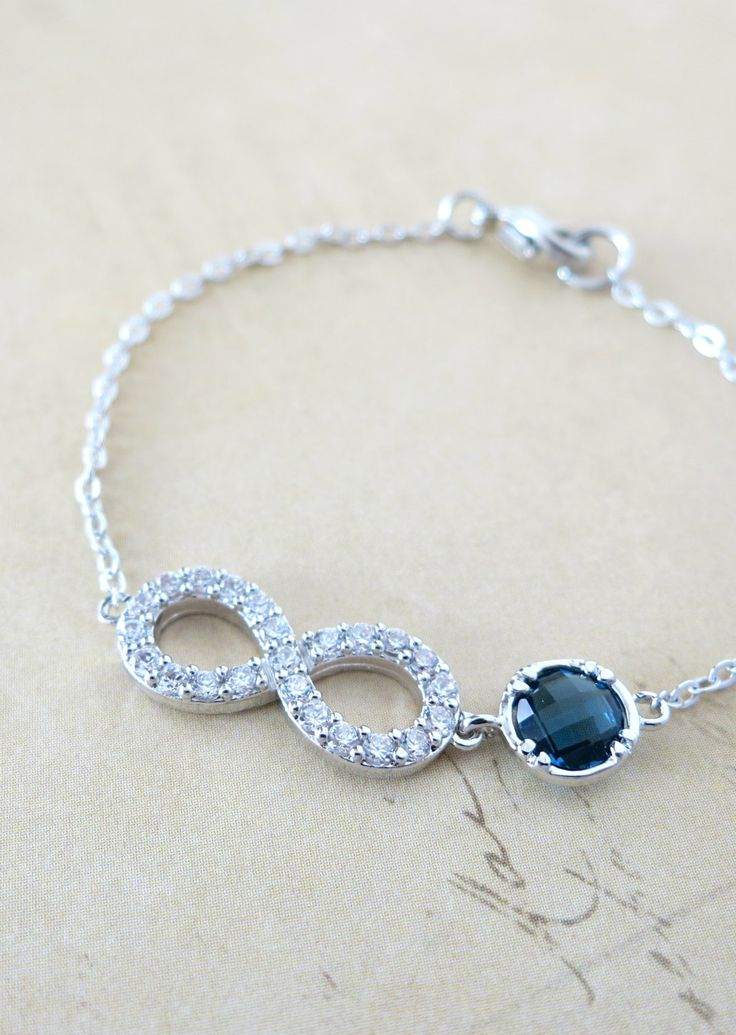 Infinity Crystal Infinity Bracelet with Montana