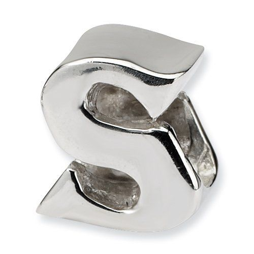 Sterling Silver Reflections Letter S Bead Real Goldia Designer Perfect Jewelry Gift goldia. $19.73