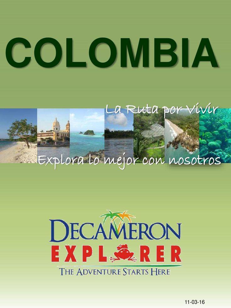 CO - Explorer Colombia con Tarifas Publicas en pesos  Español / Catálogo de excursiones que se pueden realizar en todos los hoteles de la cadena Decameron de Colombia.