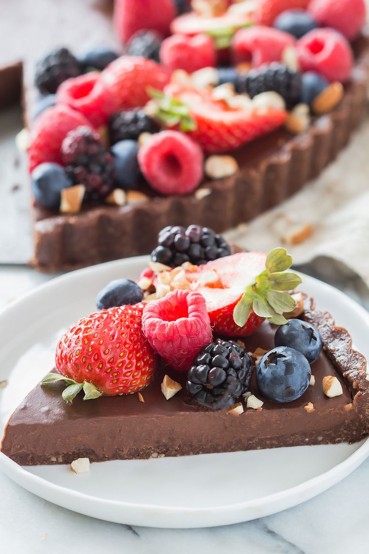 No Bake Chocolate Tart | Posted By: DebbieNet.com