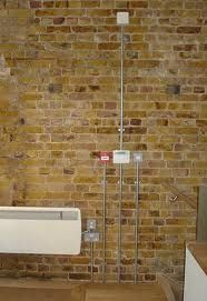 50 best exposed conduit wiring images on pinterest copper home rh pinterest com Partially Exposed Brick Wall Exposed Brick Wall Panels