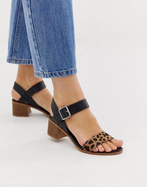b3ab3eda1f New Look 2 part low block heeled sandal in leopard in 2019 | Shoe Love |  Low block heel sandal, Heels, Block heels