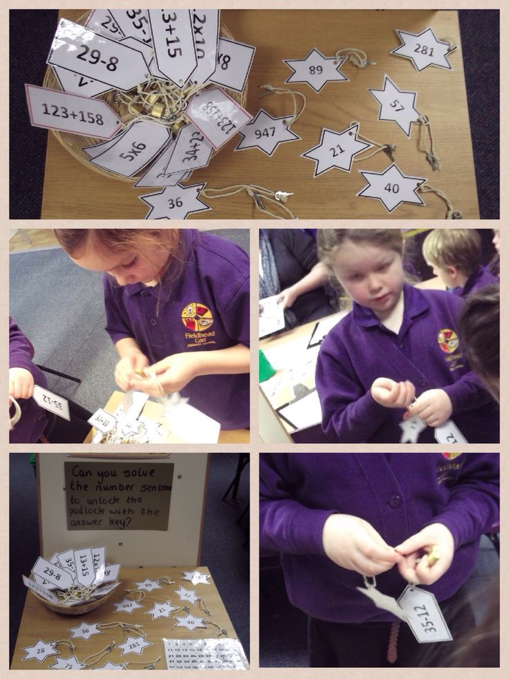 Maths challenge, answer the number problem and then unlock the padlock with the answer key.