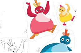 Make your own Twirlywoos finger puppets and tell a story from the show! You'll find lots of activities on www.twirlywoos.com
