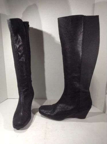 MISMATES A2 AEROSOLES Womens Taekwondo Black Boot Shoes Sz L 9 R 8.5 ZE-203*