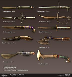 ArtStation - Assassin's Creed IV Black Flag: Multiplayer Weapons, Gaëtan Perrot
