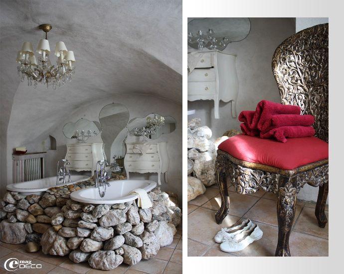 La salle de bain de la chambre Dolce Vita, maison d'hôtes Comptoir Saint-Hilaire