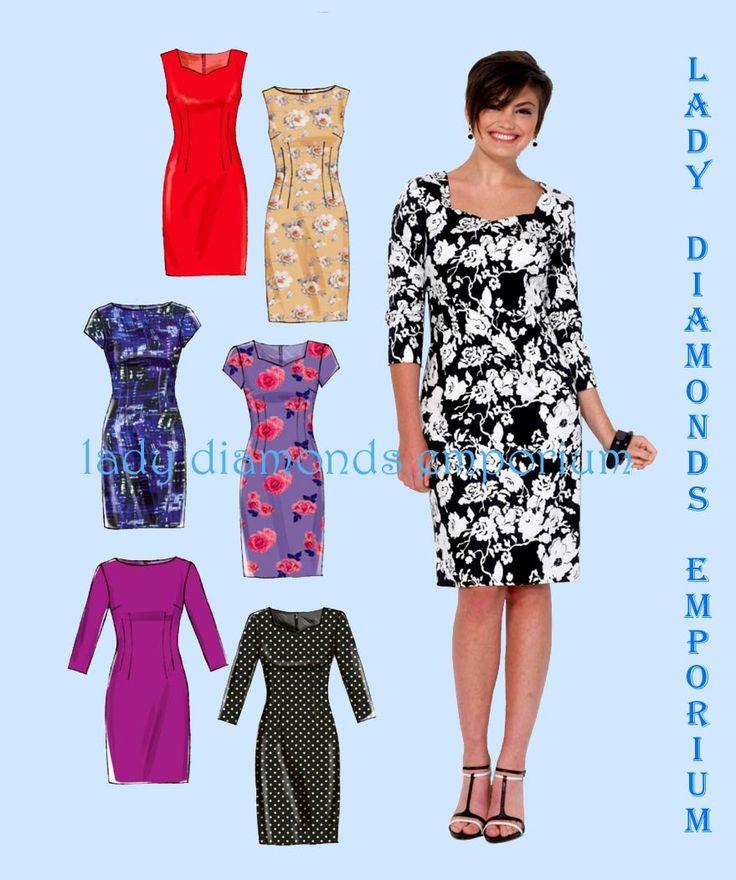 53 besten Patterns: Dresses Bilder auf Pinterest | Schnittmuster ...