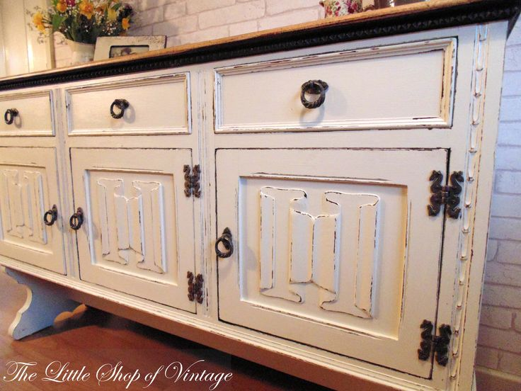Beautiful Old Charm Sideboard Painted In Farrow Ball