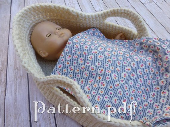 Knitting Pattern For Dolls Moses Basket : 558 best images about Knitting/Crocheting Ideas on ...