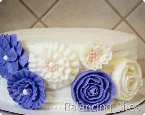 Buttercream Flower Birthday Cake - Balancing Bites