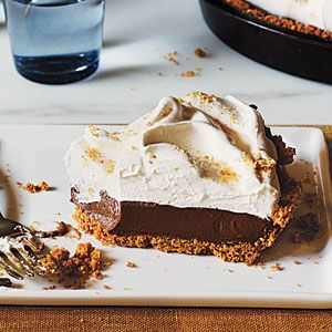 Mexican Chocolate Cream Pie! I'm bringing this to my office's Superbowl potluck lunch on Friday. I recommend using a store bought graham cracker crust and adding the 1 tsp ground cinnamon into the chocolate filling instead.