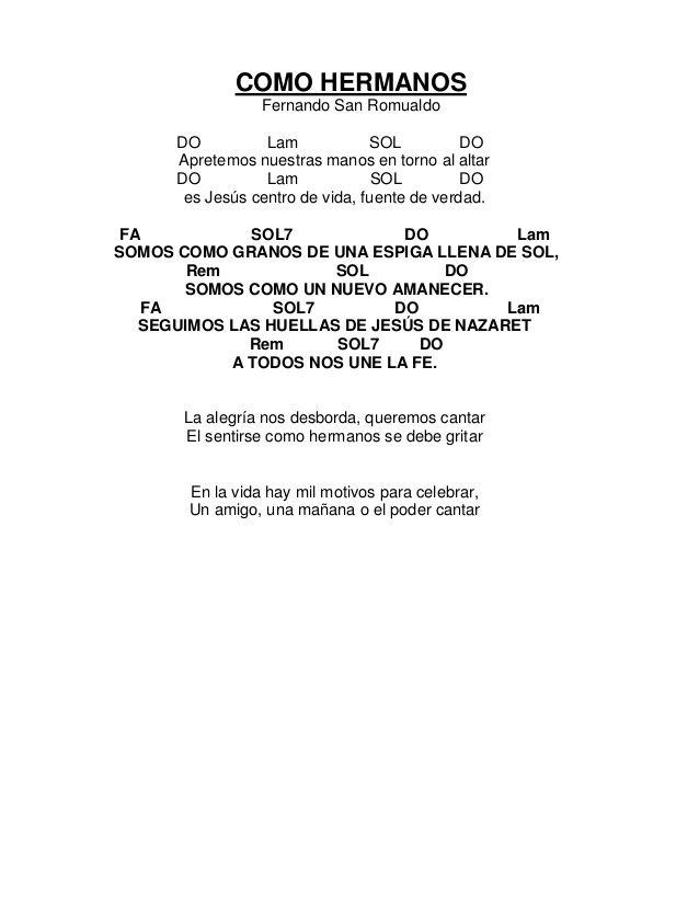 Cantoral De Entrada Con Acordes 2016 Cancionero Catolico Letras Y Acordes Cantoral