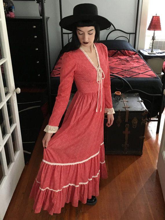Gunne Sax Prairie robe Vintage des années par MidnightPrairieMoon