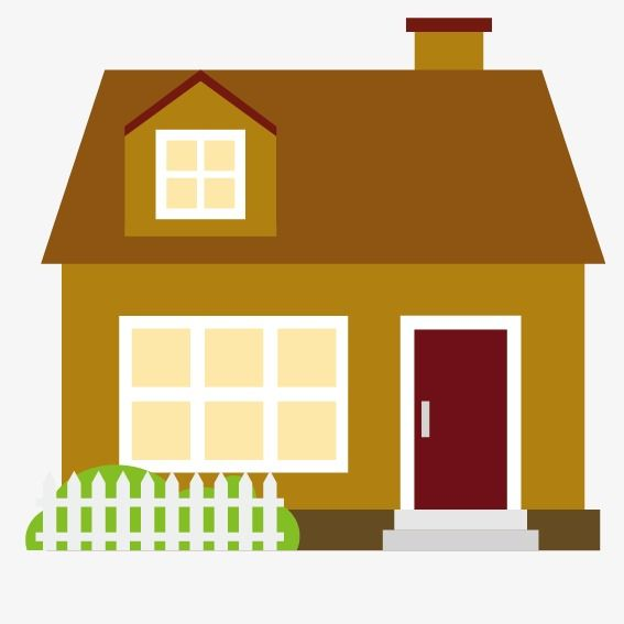 Cartoon House Fences House Png And Vector With Transparent
