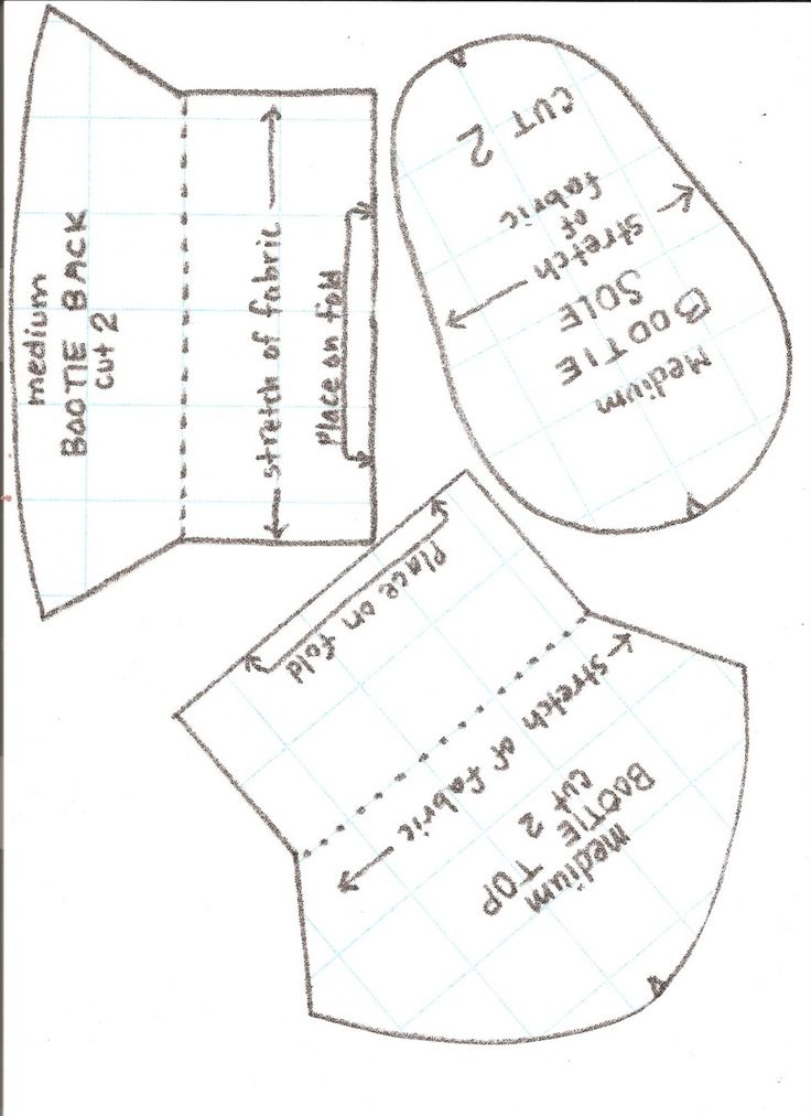 Free Paper Shoe Template | ... Baby Booties with Nonskid Soles - Free Pattern - sew-whats-new.com