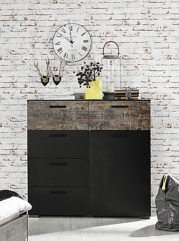 die besten 25 kommode schwarz wei ideen auf pinterest. Black Bedroom Furniture Sets. Home Design Ideas